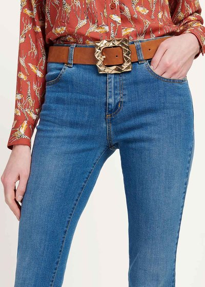 Cromby belt with square buckle