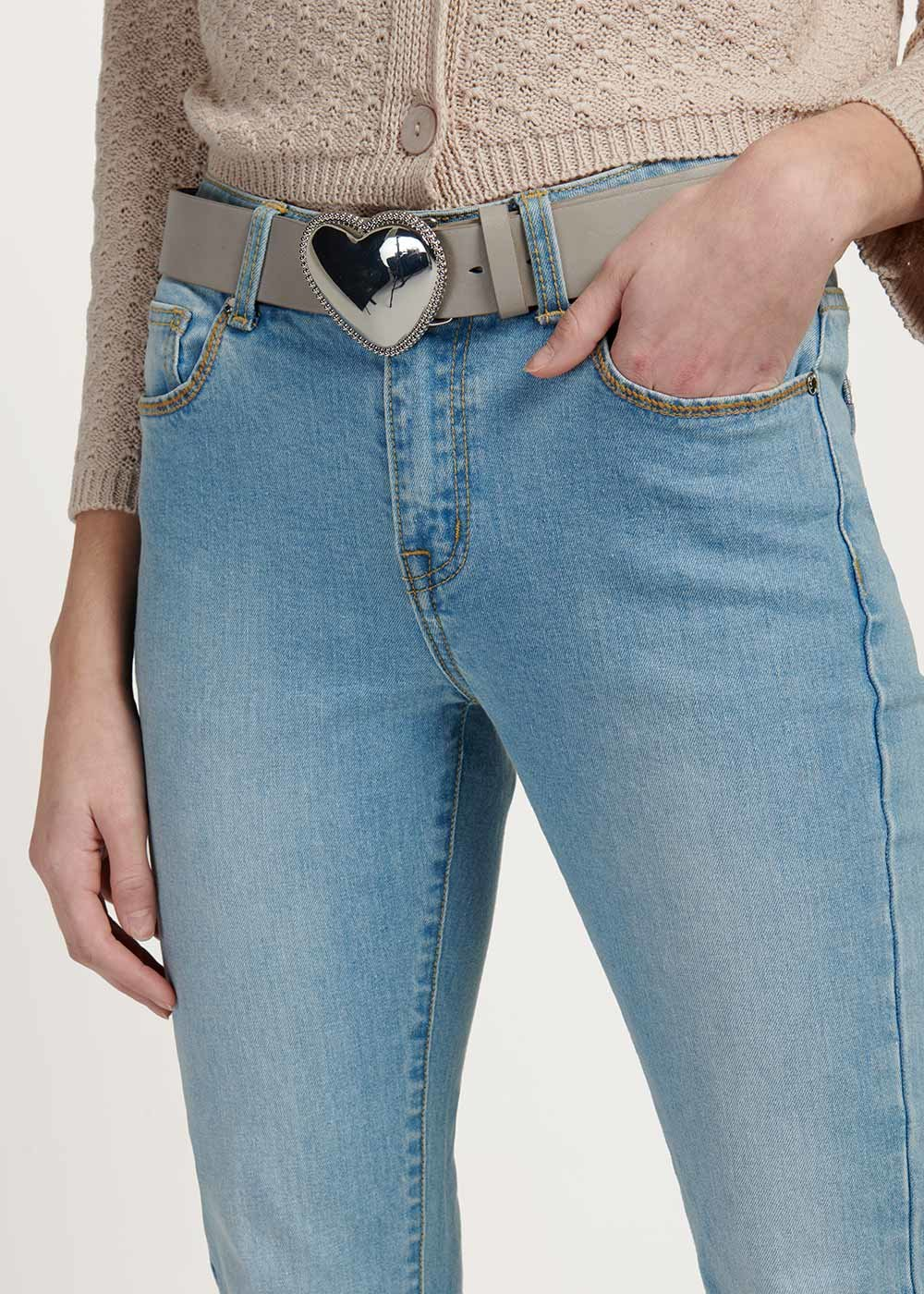 Coras belt with heart-shaped buckle - Grey - Woman