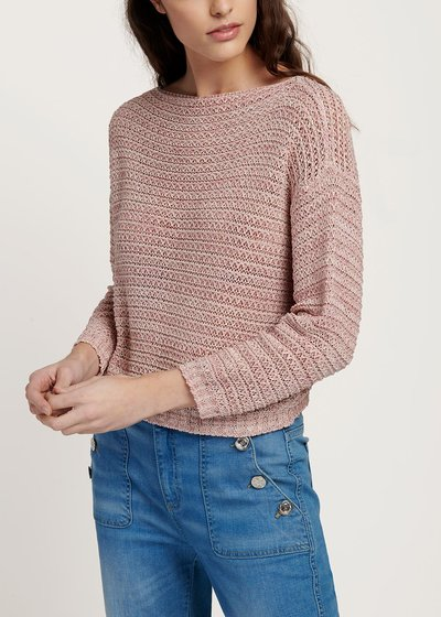 Morena cotton sweater with melange effect
