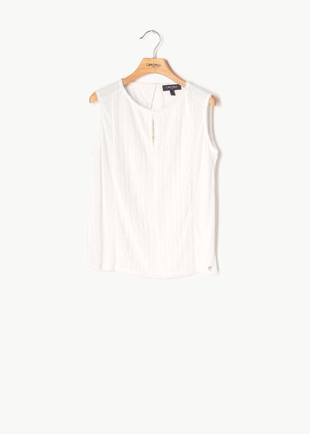 Tom sleeveless top - White - Woman