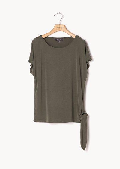 T-shirt Sabry con nodo al fondo