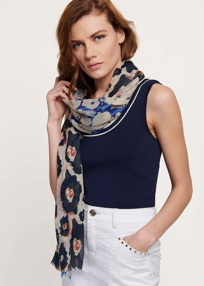Silv scarf with double - patterned print