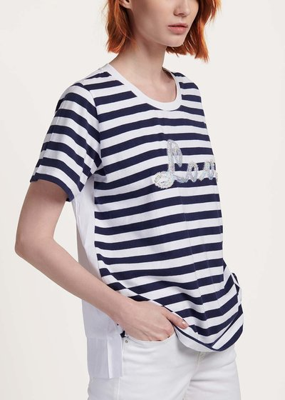 Shely t-shirt with stripes and