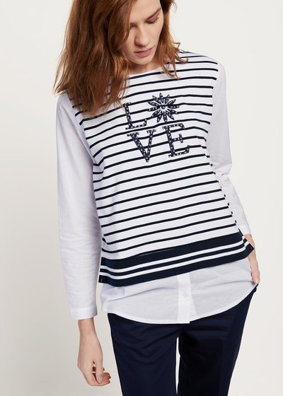 Shaky t-shirt with stripes and