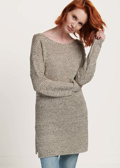 Mindy light beige cotton yarn sweater