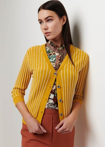 Clio striped cardigan