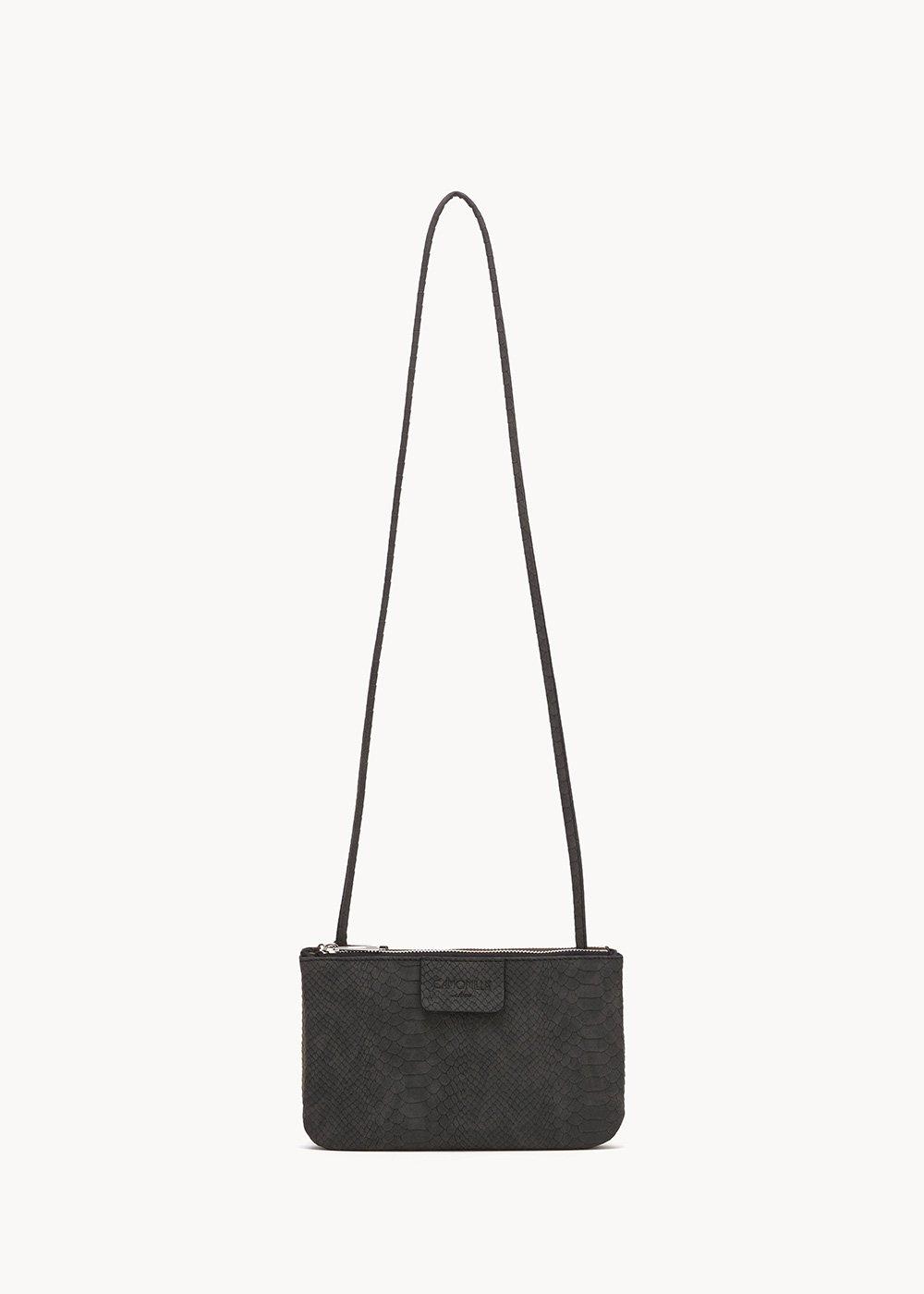 Tonga two-tone clutch bag - Black / Grape - Woman