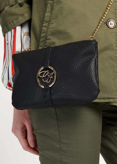 Tonga two-tone clutch bag