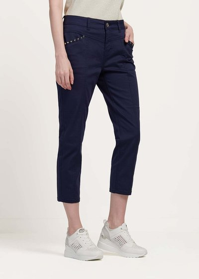 Palide capri pants with studs detail