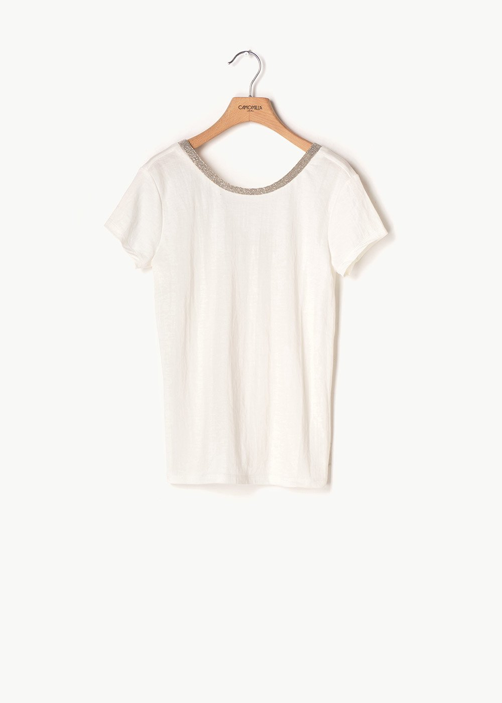 Sael T-shirt with round neck - White - Woman