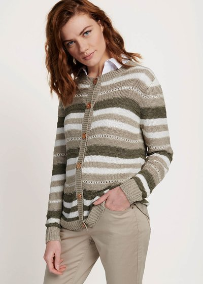 Clair cardigan with multicolour stripes