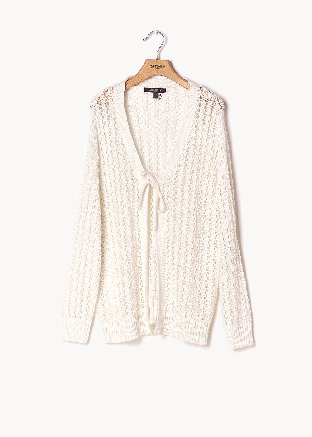 Cardigan Caddy traforato bianco - White - Donna