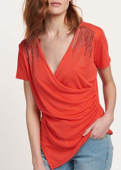 T-shirt Serena con dettagli cristalli