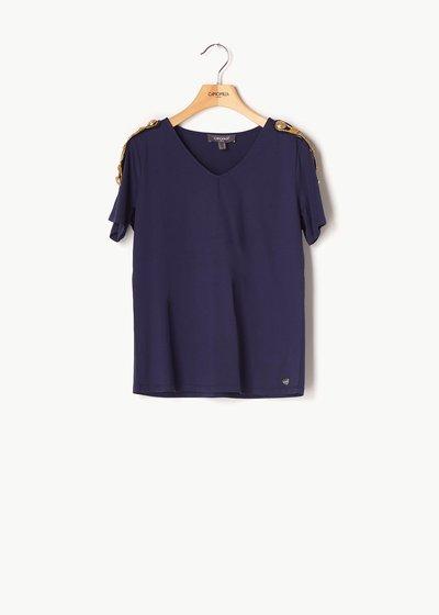 T-shirt Shana dettagli oro