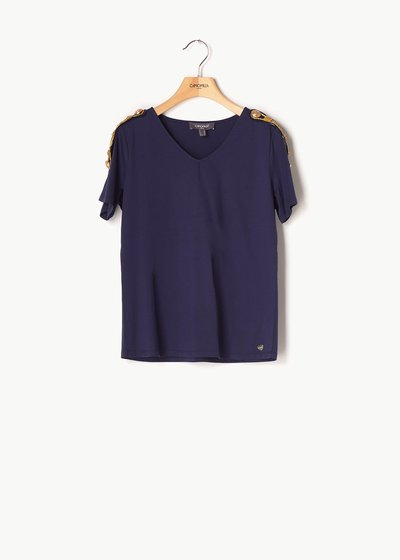 Shanan T-shirt with gold details