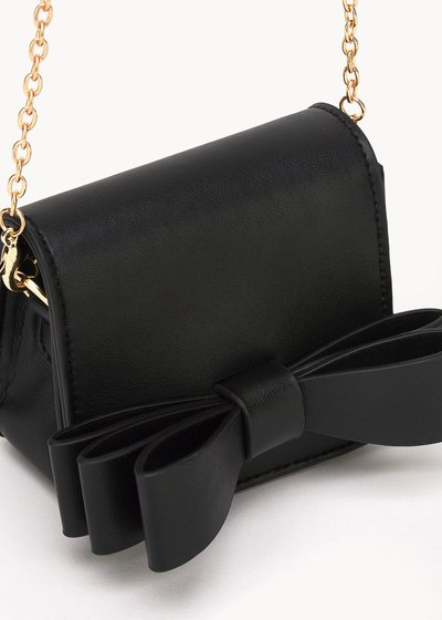 Baky mini bag with faux-leather bow