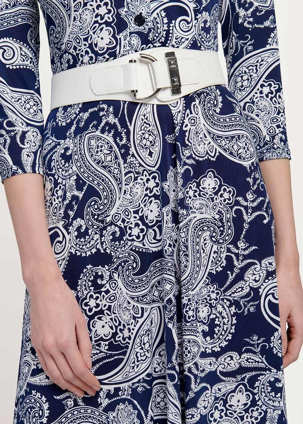 Cintura Cael con fibbia - White - Donna