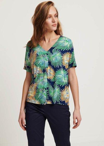 Sainoha T-shirt with tropical pattern