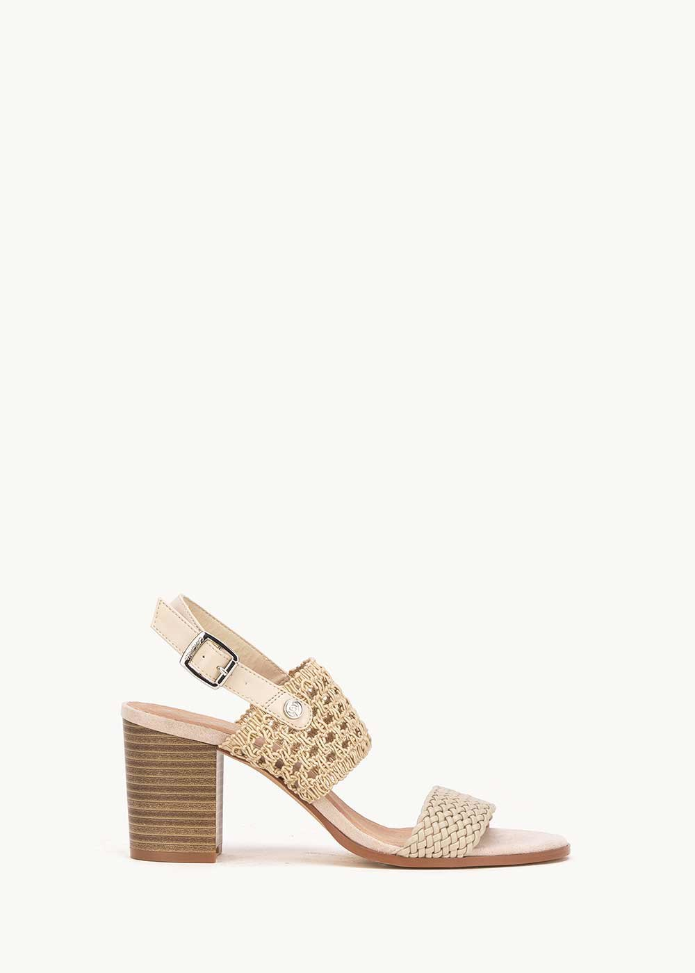 Sher sandal with crochet band - Light Beige / Safari	 - Woman