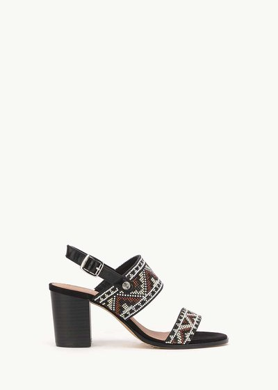 Shyl sandal with aztec motif
