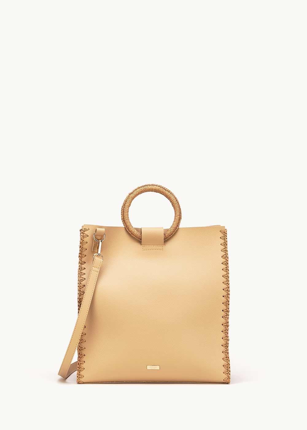 Bryan big bag with circular handles - Safari - Woman