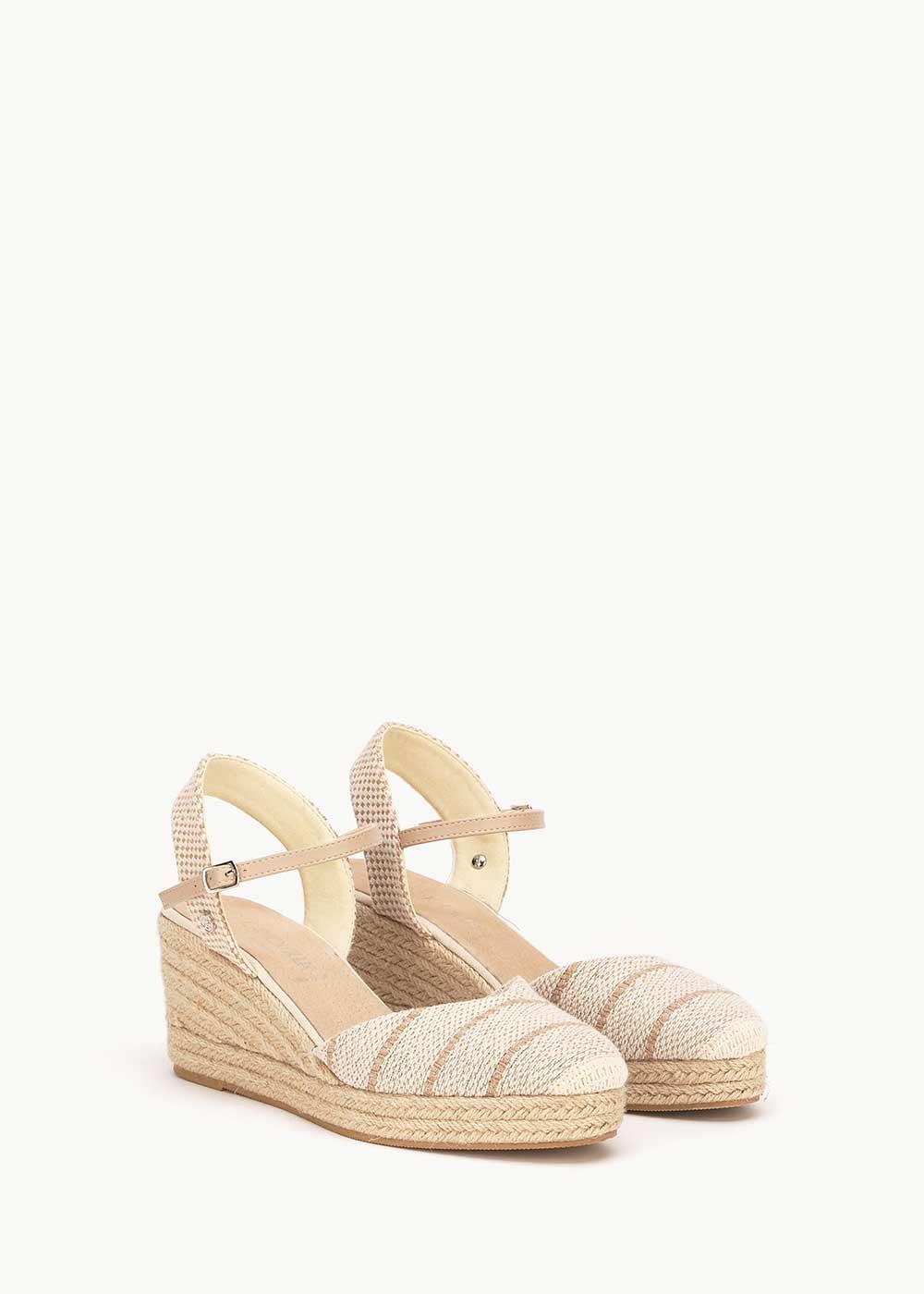 Sandalo Stacy modello espadrillas - Light Beige - Donna