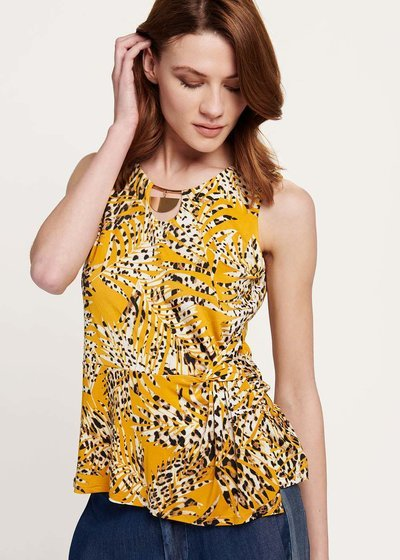 Terrie top with animal print