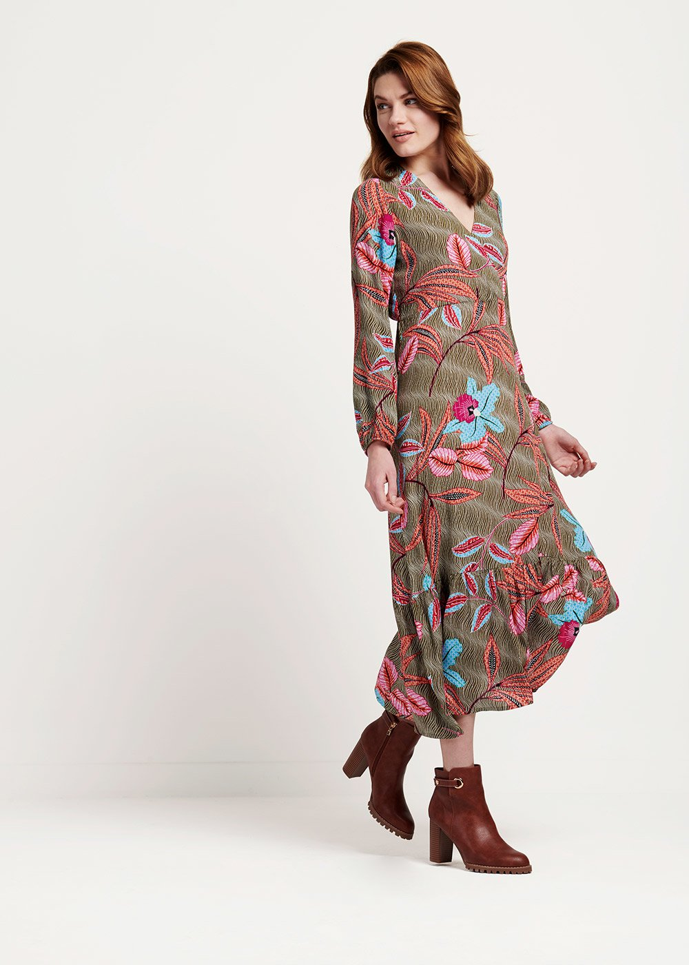 Ashlie dress with floral pattern - Timo / Gloss / Fantasia - Woman