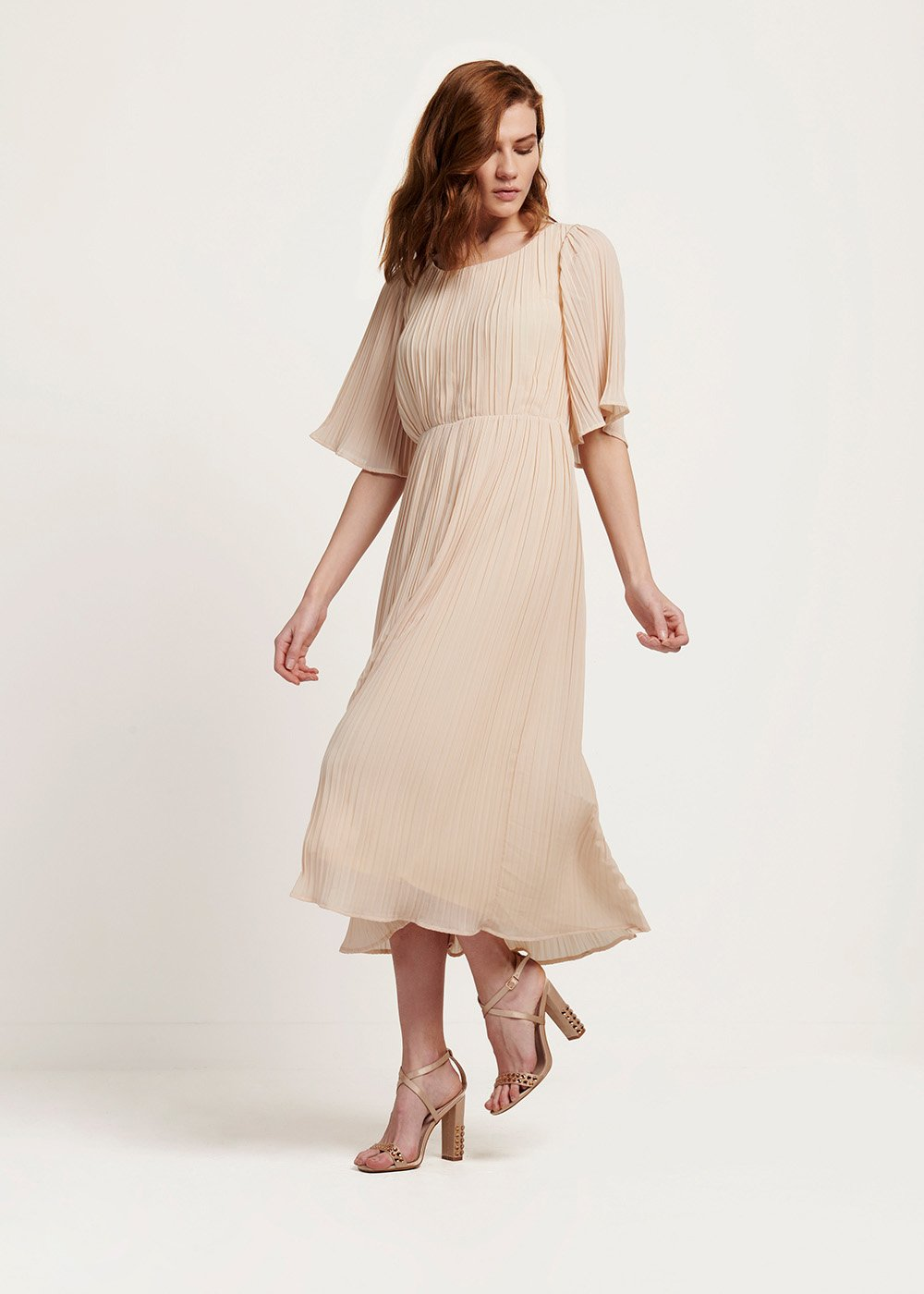 Abito Avril plisse light beige - Light Beige - Donna