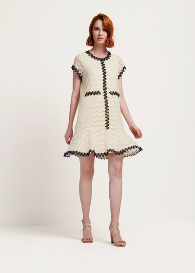 Anouk black and white dress