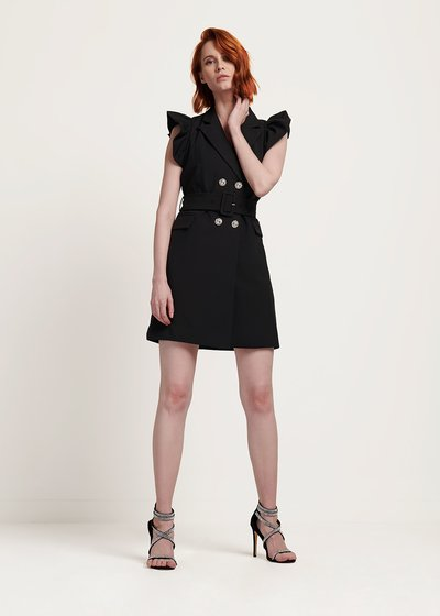 Alisha dress with trims on the shoulders