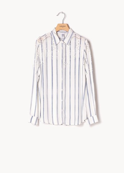 Calyd striped shirt with openwork