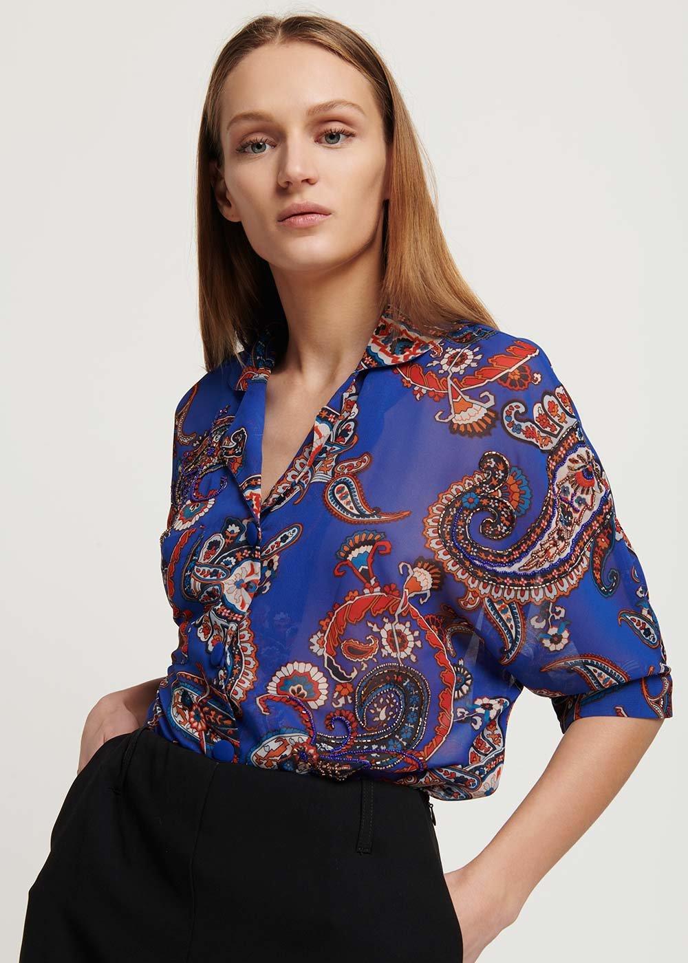 Cabryl patterned shirt - Nettuno \ Sole \ Fantasia - Woman