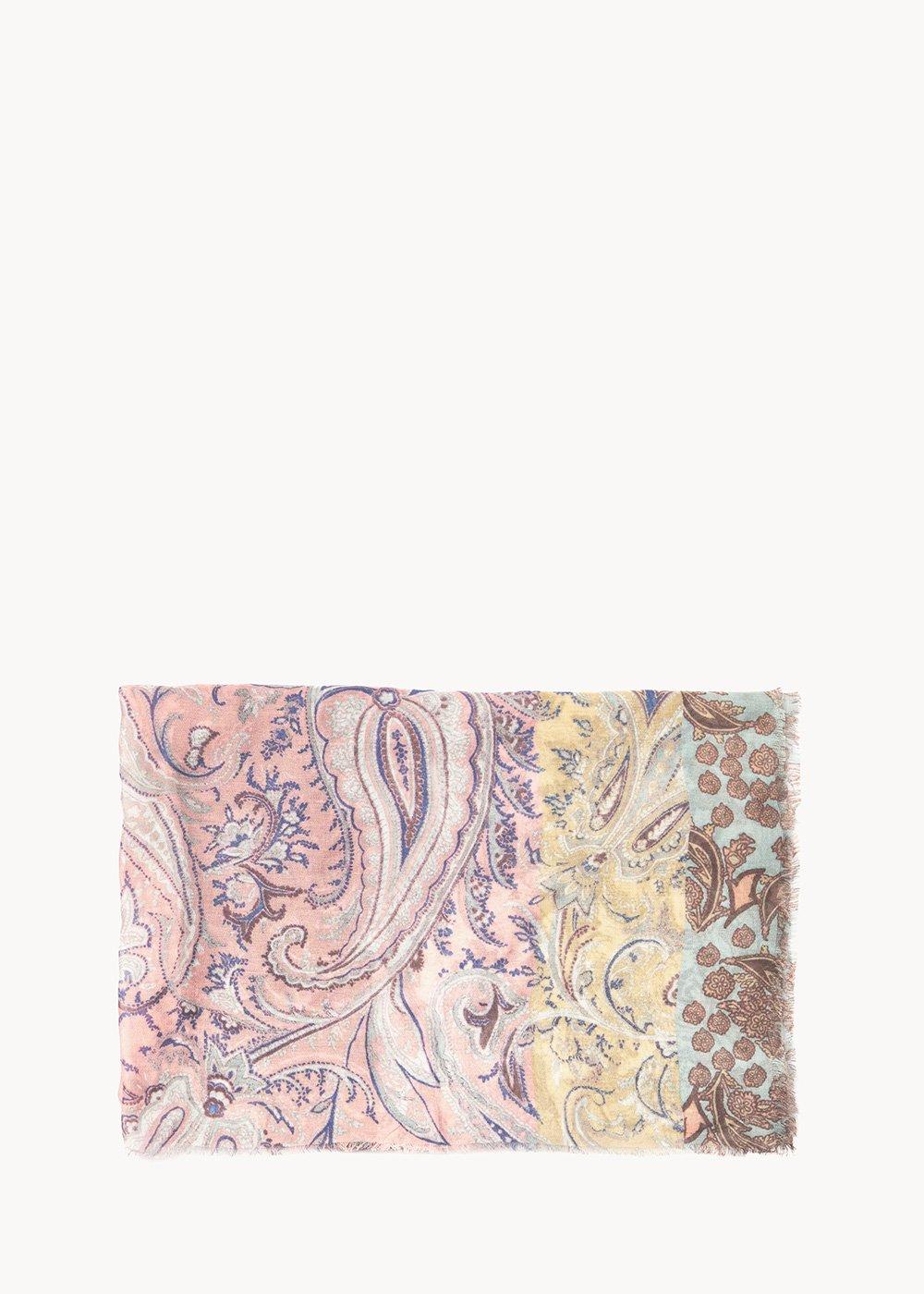 Somay patterned headscarf - Salmone Smeraldo Fantasia - Woman
