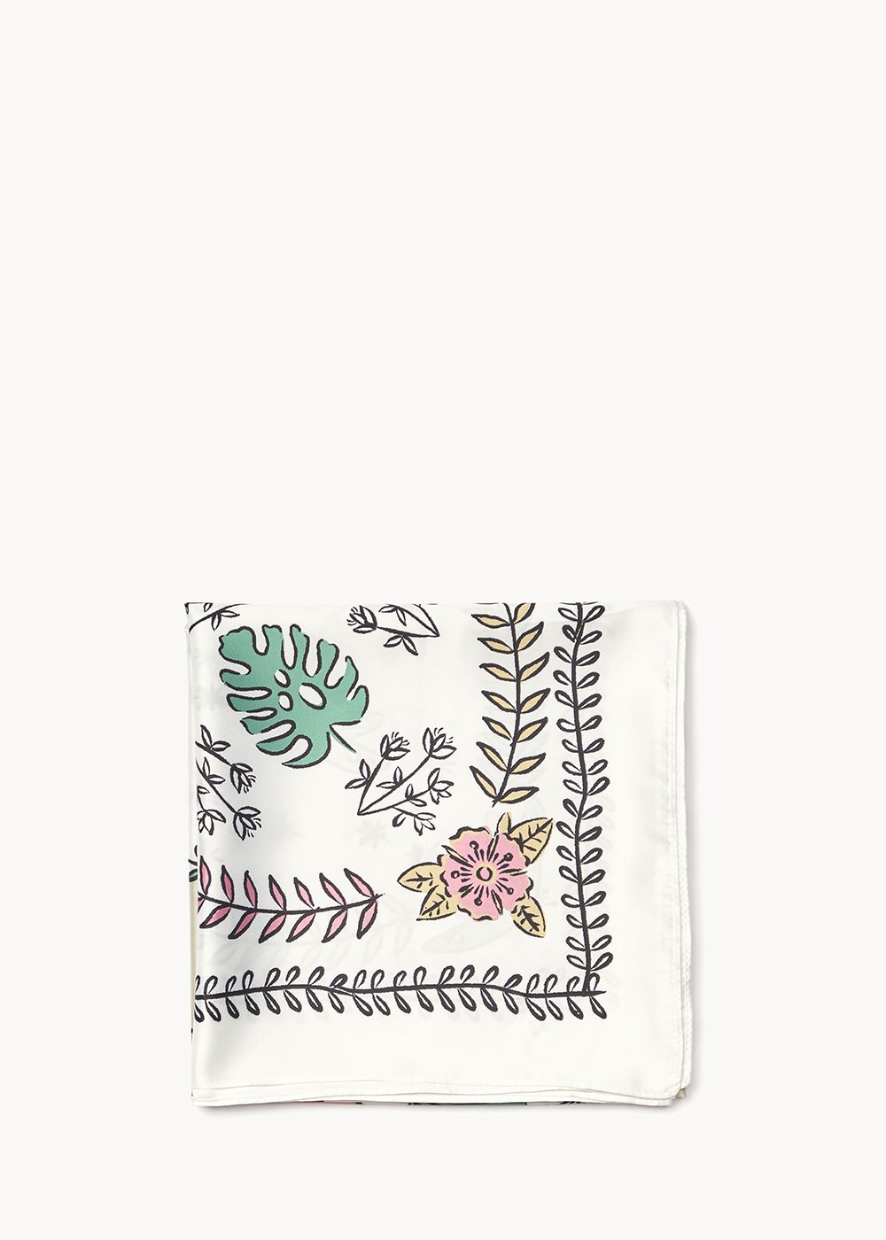 Shela patterned headscarf - White Fantasia - Woman
