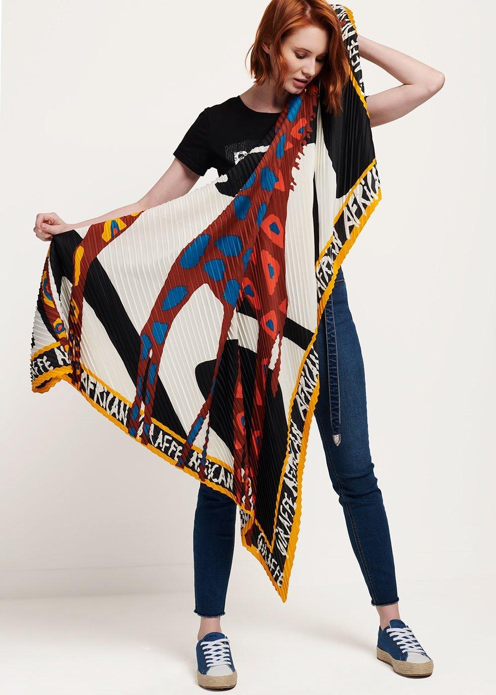 Shara patterned headscarf - White Fantasia - Woman