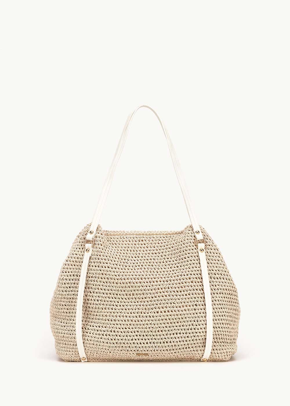 Bonita straw shopping bag - Light Beige - Woman