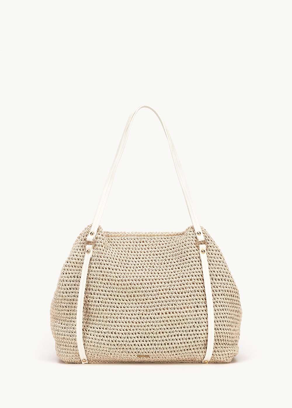 Bonita straw shopping bag - Light Beige - Woman