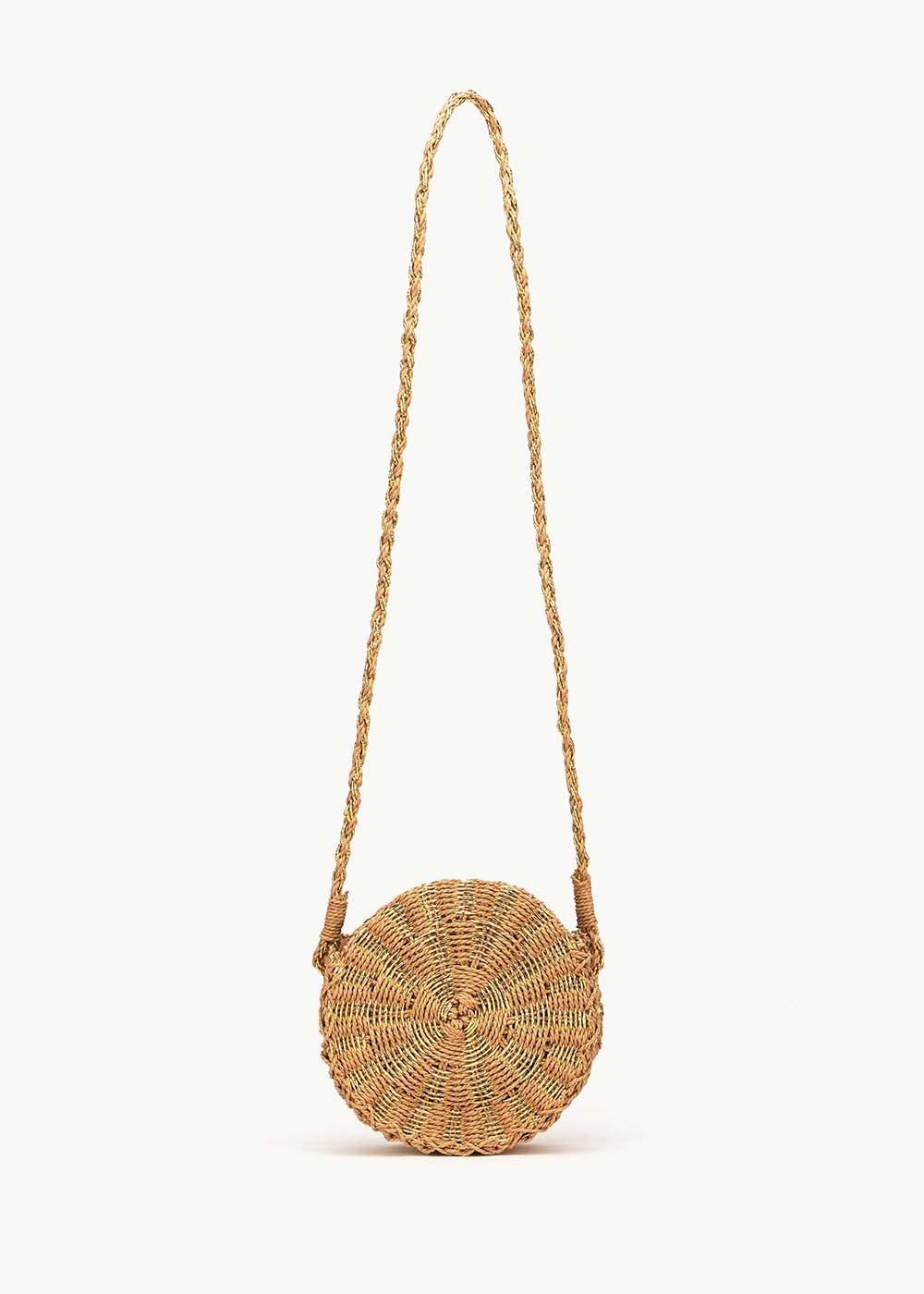 Baggy round straw bag - Safari - Woman