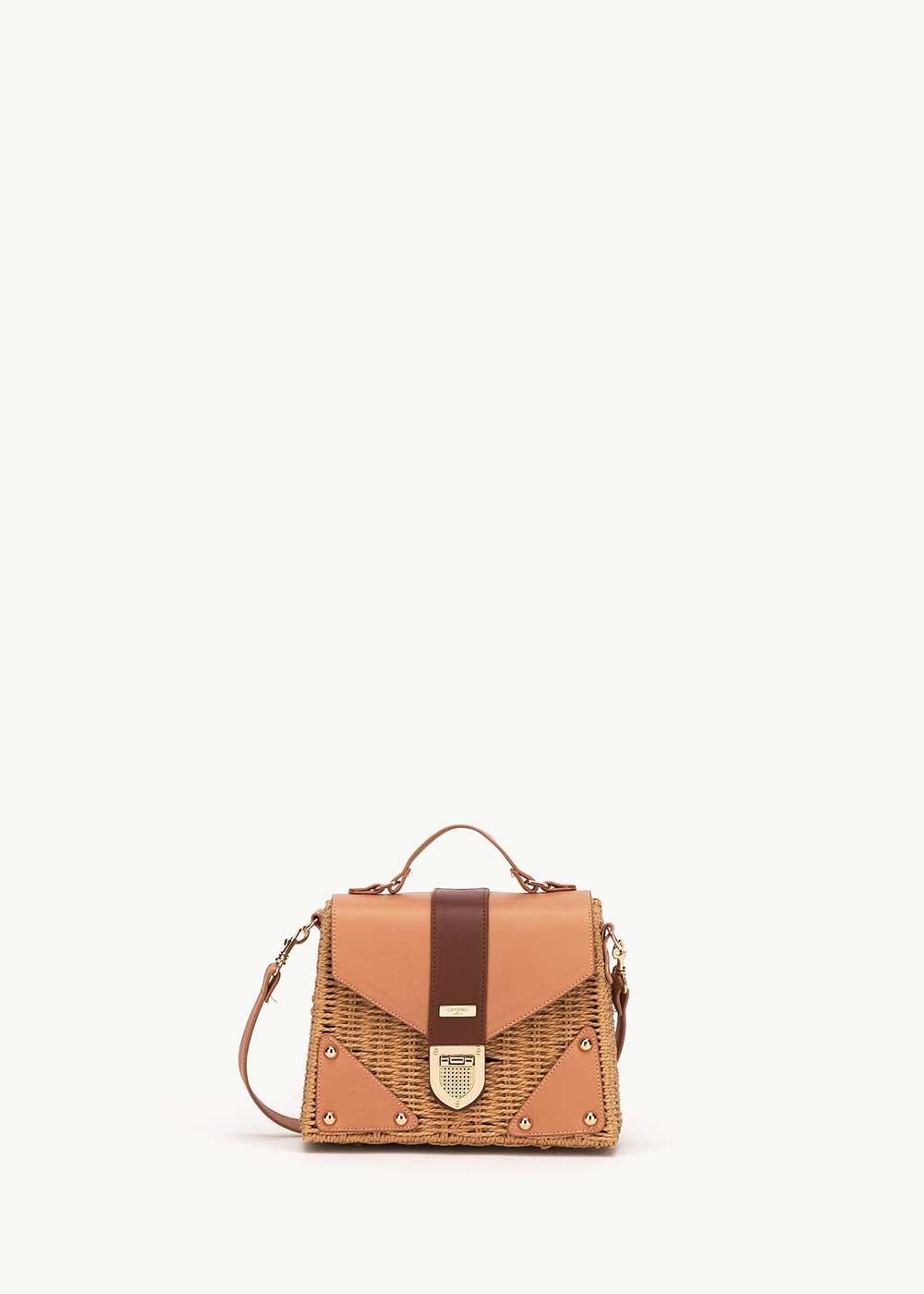 Brandys wicker basket bag - Doeskin - Woman