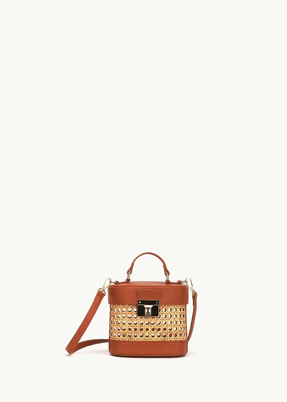 Breanne wicker basket bag - Safari / Pecan - Woman