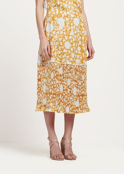 Gisel long patterned skirt