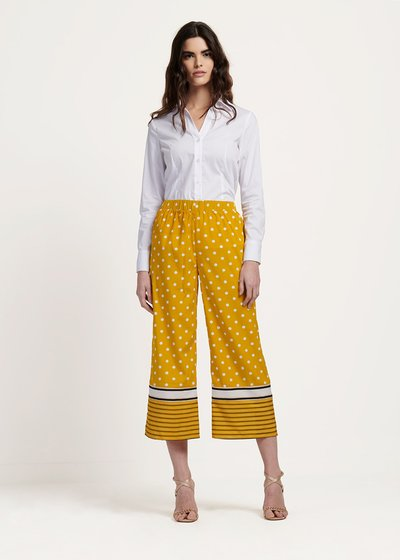 Paride trousers with polka dot print