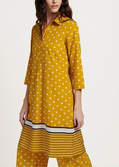 Camely shirtdress with polka dot print
