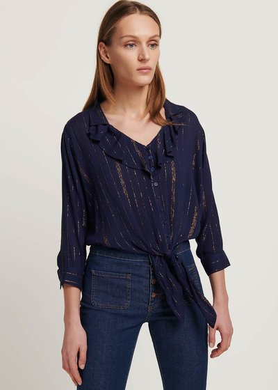Carola blouse with lurex threads