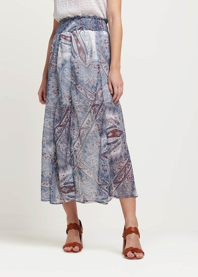 Giuditta all over patterned skirt