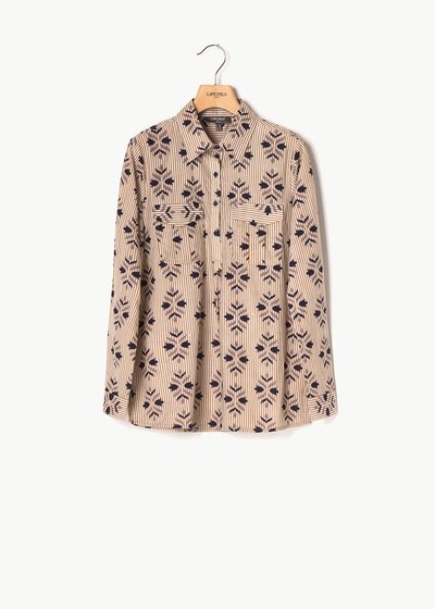 Clea shirt with stripes and flowers pattern