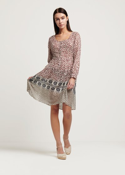 Cleope round neck dress