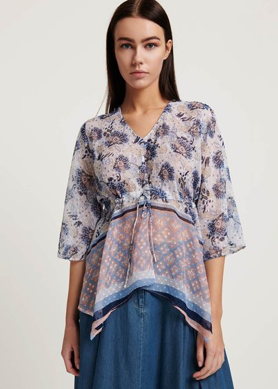 Claudy blouse with floral pattern