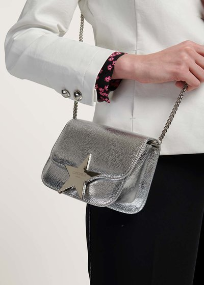 Brandy clutch bag with shoulder strap